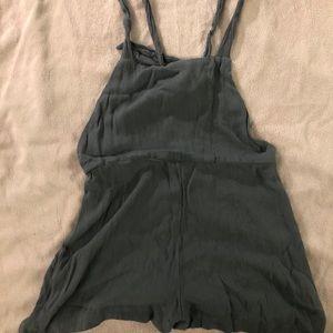 Pull&Bear blue grey romper shorts Size M
